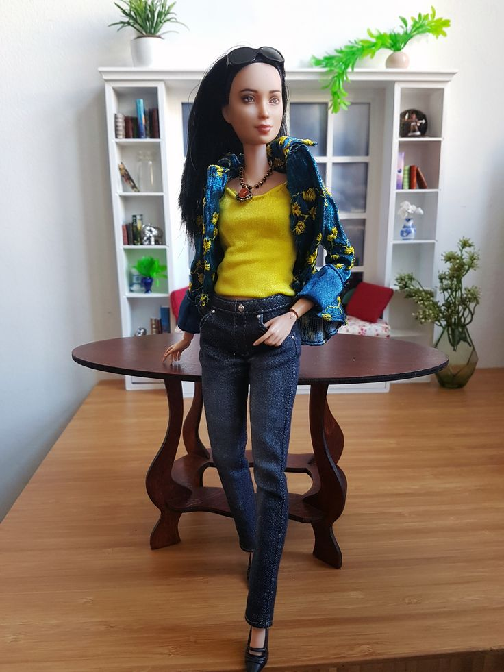 Winter Blues - #BarbieFashion #BarbieStyle #DollFashion #DollStyle #PlayscaleFashion #PlayscaleStyle #Fashion #Style #Blue #Yellow #SpringSummer2017 #OOTD #PlasticallyPerfect