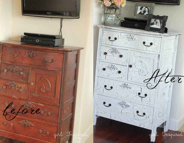 87 Best Images About Crackle Paint Furniture On Pinterest