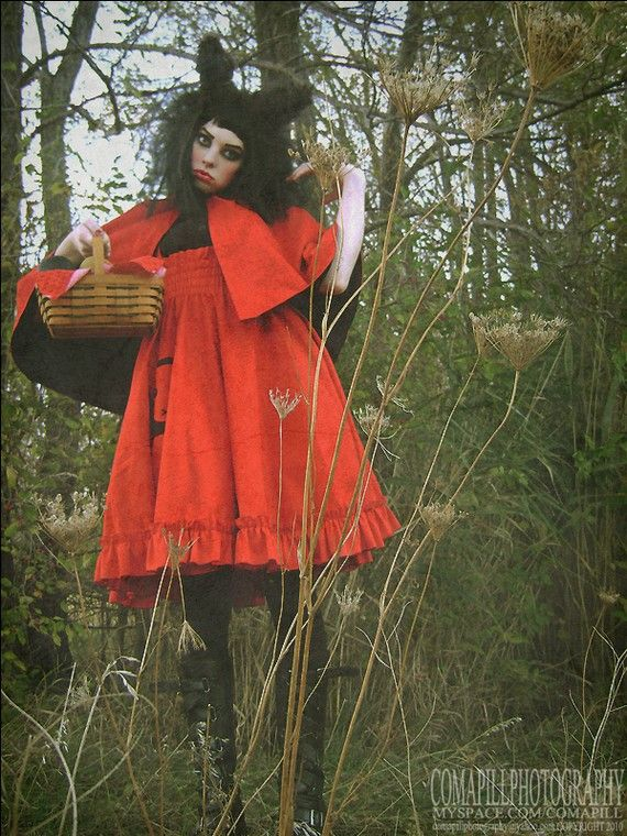 Mini Cape Little Red Riding Wolf Adult Halloween by KMKDesignsllc, $105.00