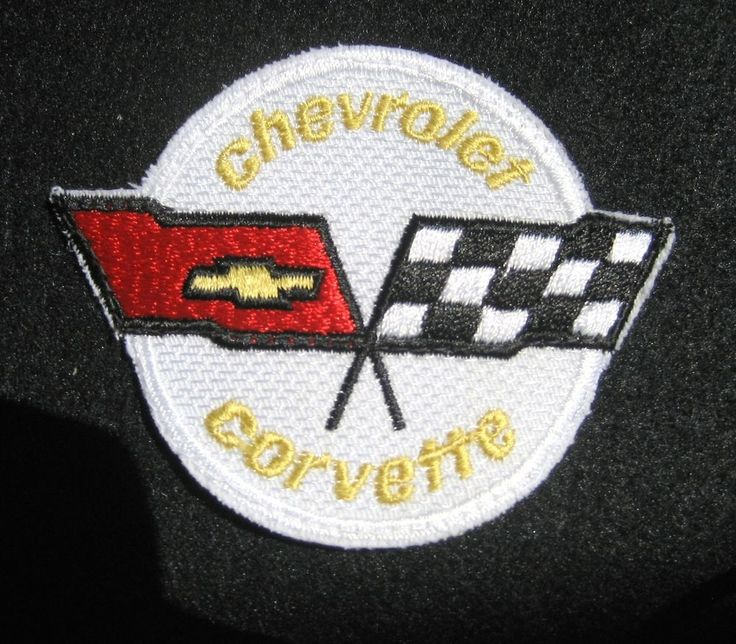 CHEVROLET CORVETTE EMBROIDERED SEW ON PATCH MUSCLE CAR ...