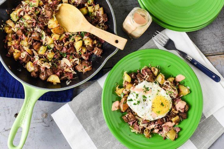 Reuben-Style Corned Beef Hash Recipe