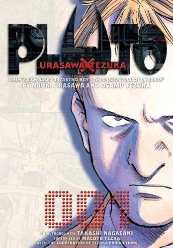Pluto: Urasawa x Tezuka, Vol. 1 by Naoki Urasawa,http://www.amazon.com/dp/1421519186/ref=cm_sw_r_pi_dp_33tAtb10T81HC5KY