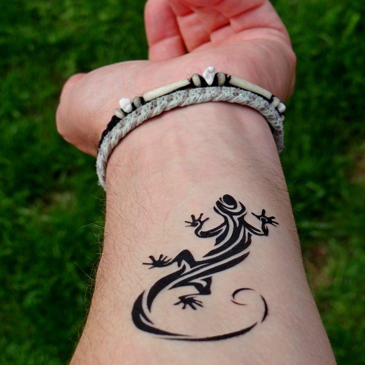 Tatouage Gecko sur le bras