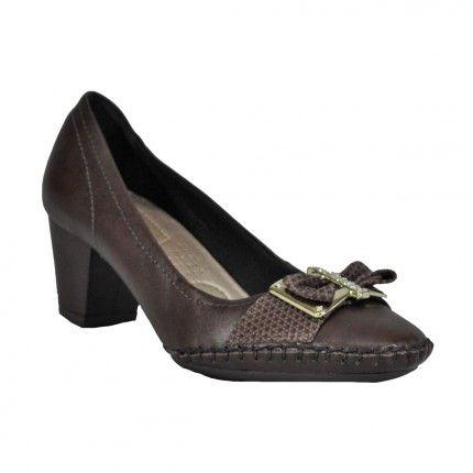 Sapato Usaflex super confortável. Em cor neutra ele combina com muitos looks. -   Vivi Tonin Online - R$ 199,90 - Parcele em até 10x sem juros no cartão - * Frete Grátis para todo o Brasil.