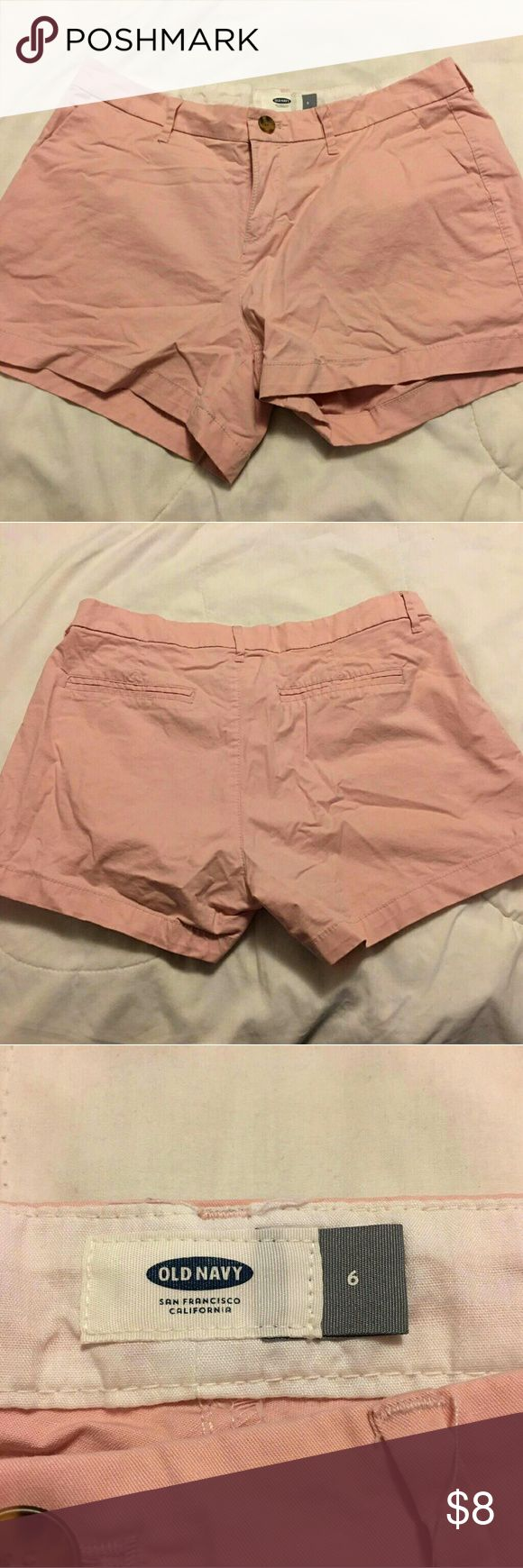 NWT Old Navy Peach Shorts NWT   Old Navy women peach shorts  Size 6 Old Navy Shorts