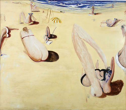 Brett Whiteley, Balmoral, oil and collage on canvas, 180x204cm, 1975-8.