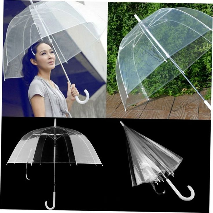 Fashion Transparent Clear Automatic Umbrella Parasol For Wedding Party Favor BH