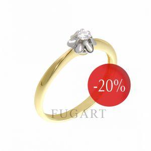 Pierścionek zaręczynowy, z brylantem PB087/05