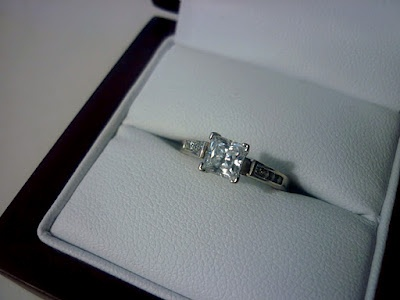 My beautiful engagement ring! :D
