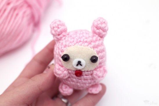 Free kawaii bear #amigurumi pattern from Mohu! #crochet #cuteoverload