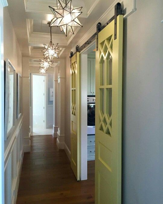 139 best barn door hallway images on pinterest doors for Narrow barn door