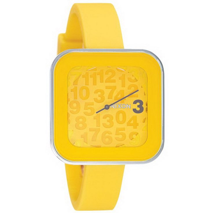 Nixon A162639 Women's The Rocio Yellow Dial Yellow Rubber Strap Watch - Discount Watch Store