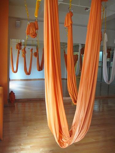 Anti-gravity yoga sling. Got to get one!