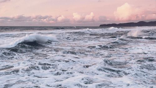 Ocean Waves photography sky ocean scenic nature clouds waves gifs gif
