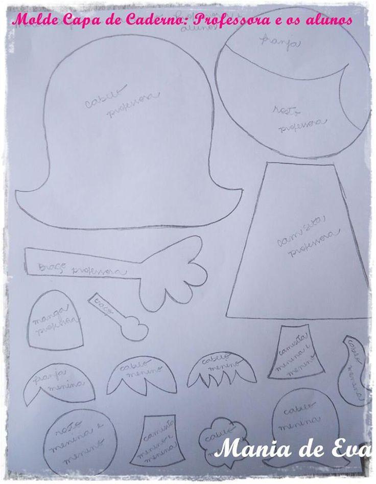 capa de caderno, professora 2de2