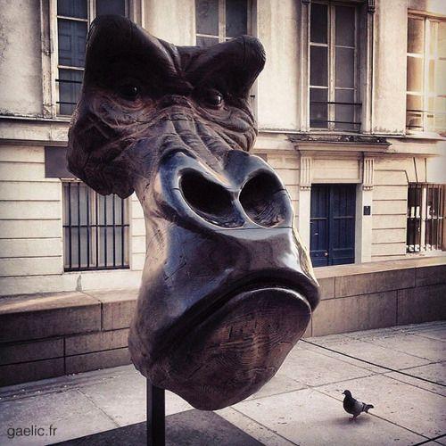 Fire monkey #HappyNewYear #YearOfTheMonkey 2015-06-17 #France #Paris #art #sculpture #QuentinGarel #bronze #monkey #street #urban #latergram #iphone (à Muséum national d'Histoire naturelle)