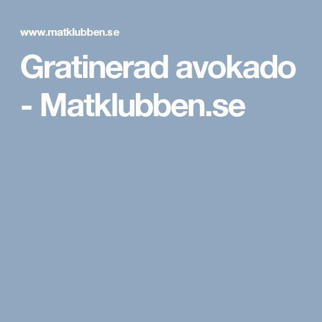 Gratinerad avokado - Matklubben.se