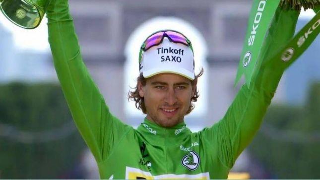 Sagan gets another green jersey. nice halo!
