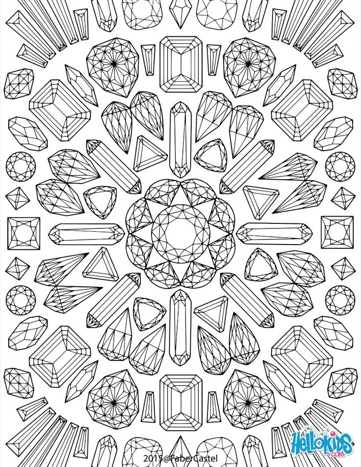 These Mandala Graphics Look Like Precious Stones Color This Coloring Page With All Your Bright Colors Or Use The Online Interactive