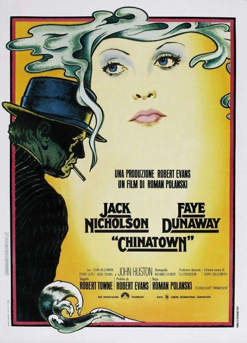 Film Noir Chinatown 1974 Movie Poster