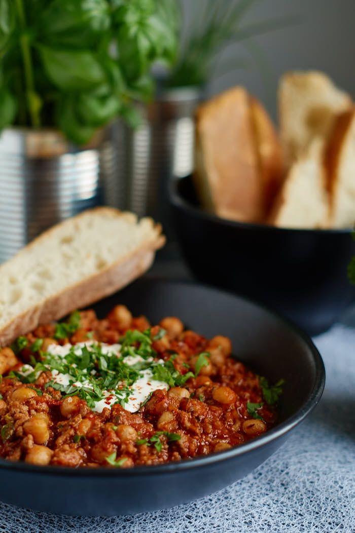 Chili con Carne mit Kichererbsen (schnell&einfach)