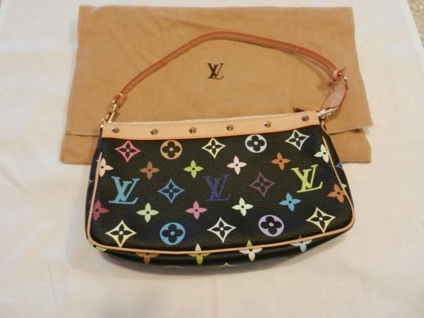 Louis Vuitton Black Multi Monogram Pochette For On Craigslist One The S