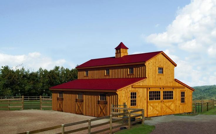 32 X 36 Monitor Style Horse Barn With Full Loft Penn