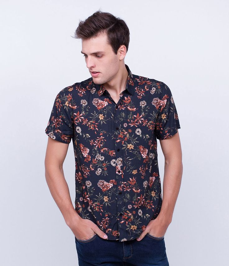 Camisa masculina  Manga longa  Floral  Marca: Blue Steel  Tecido: tricoline  Composição: 100% algodão  Modelo veste tamanho: M     Medidas do Modelo:     Altura: 1,89  Tórax: 97  Cintura: 90  Quadril: 104     COLEÇÃO VERÃO 2017     Veja outras opções de    camisas masculinas.