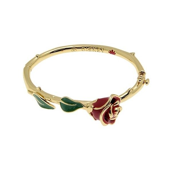 Disney Couture Beauty & the Beast gold Rose Bracelet | Clothing & Accessories | Disney Store ($33) found on Polyvore