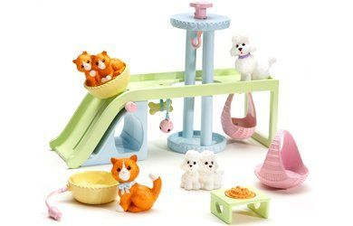 Caring Corners - Pet Playground Accessory Pack by Learning Curve. $13.50. Recommended for ages 3 and up. Accessory pack works interactively with Mrs. Goodbee Interactive Dollhouse. Pets can really play on moving elevator, swing, and slide!. The Pet Playground Accessory Pack encourages Caring!. Includes pet figures, play structure, baskets, and food dish. Amazon.com                 The Pet Playground Accessory Pack from Caring Corners encourages kids to practice ...