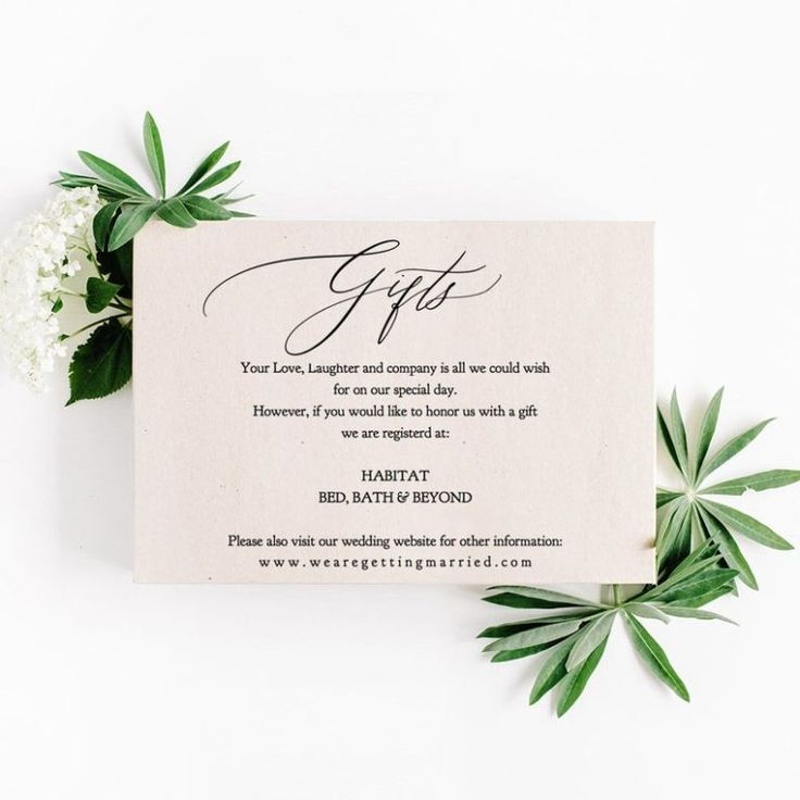 Wedding Gift Registry Wording Ideas: How to ask for gifts ...