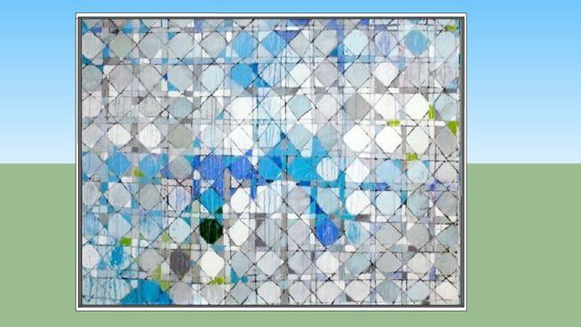 Quadro decoração-Pintura de Paolo Ridolfi: Azulejos 22 - 3D Warehouse