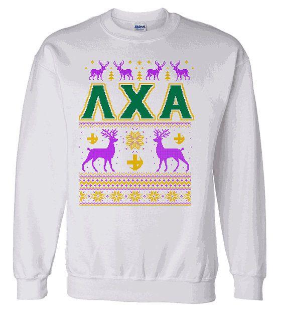 Lambda Chi Alpha Ugly Christmas Sweater Crewneck by greekgearcom