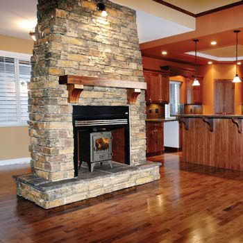 Another double side stove surround idea...