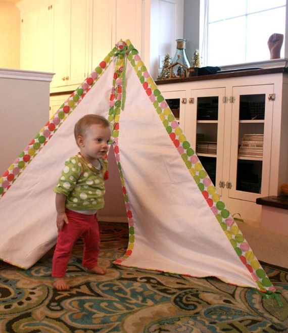 Last year for Christmas I made Etta a little tent.  Look how little she was!  it is amazing how fast they grow.  Okay so be prepared for a long post!… I was inspired by a tent in BHG that I saved: MY LATEST VIDEOS Sorry if the image quality is bad, I've had this page …