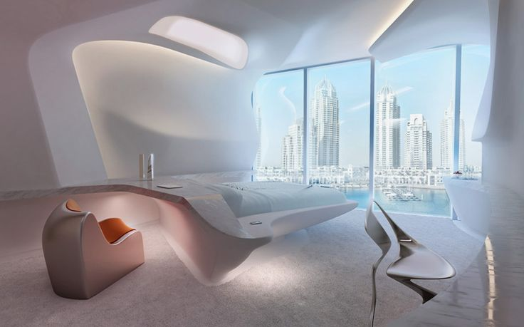 zaha hadid designs interiors for dubai's opus office tower
