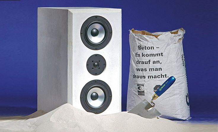 Aufgrund seiner Schwingungsarmut ist Beton für Lautsprecherboxen gut geeignet: Die Bauanleitung zeigt, wie Sie Hifi-Boxen aus Beton selbst gießen