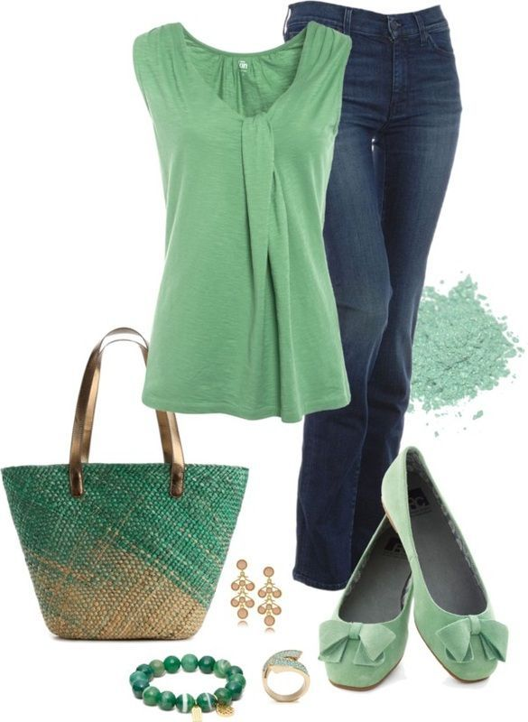 Simple Outfit: Simple Outfit, Fashion Outfit, Casual Outfit, Mint Green Outfit, Summer Outfit, Style, Clothing, Summer Breeze, Spring Outfit