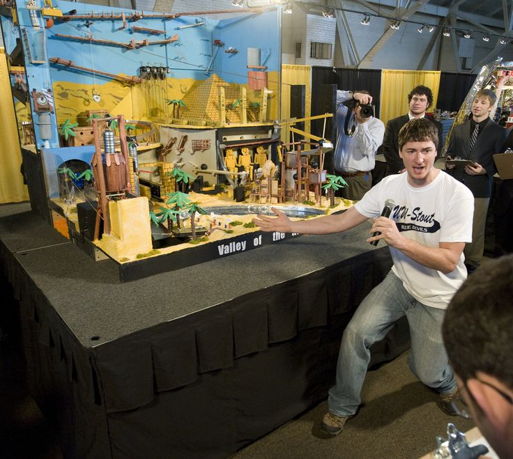 """Wacky machine contest comes to UW-Stout: Rube Goldberg Machine Contest for high school teams is billed as an """"Olympics of Complexity"""""""