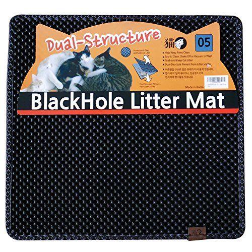 """Blackhole Cat Litter Mat - Medium Square 23"""" X 21"""" - Blac... http://smile.amazon.com/dp/B010H0KVLA/ref=cm_sw_r_pi_dp_Fqnrxb0Y0BA9D"""