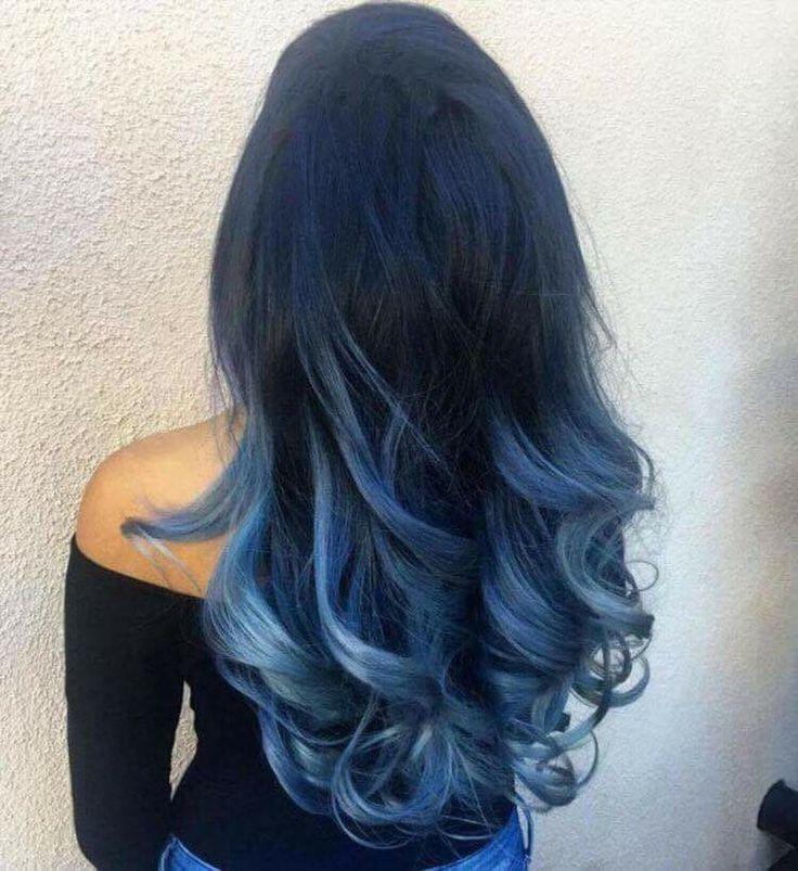 Ombré blue hair