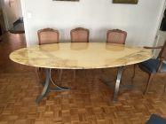 Grande Table ovale marbre de carrare Tecno 230cm