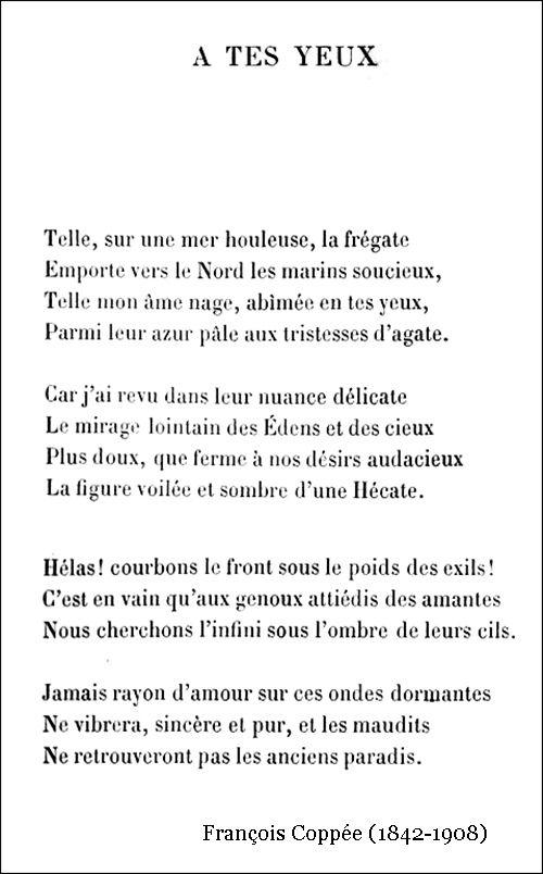 François Coppée – À tes yeux