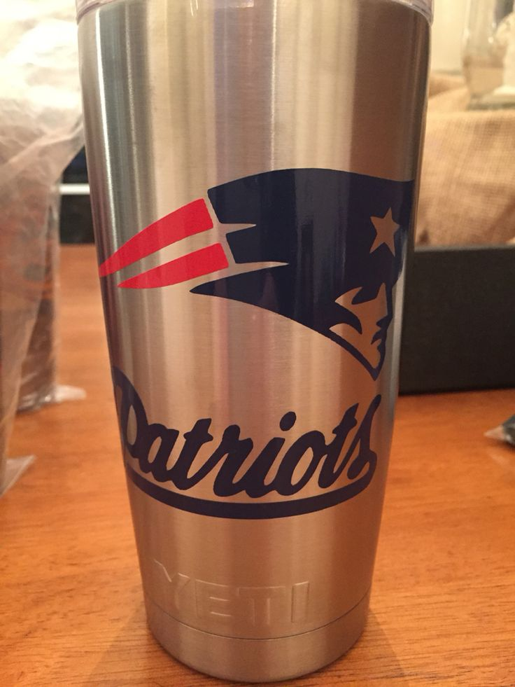 Yeti Tumbler With New England Patriots Logo Using Red And