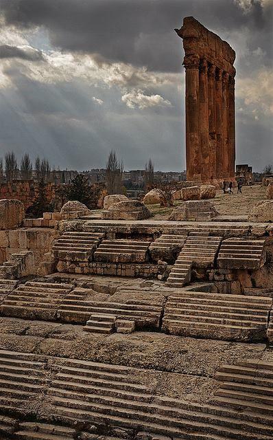 Steps to the Temple of Jupiter, Baalbek, Lebanon.