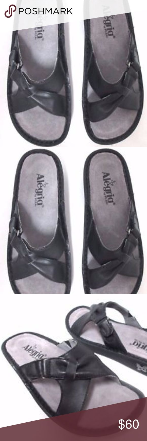"""Alegria Vio leather slides sandals NEW Size 7 Alegria sandals new without box. Size 7, heel is 1"""". Pet and smoke free home. Alegria Shoes Sandals"""