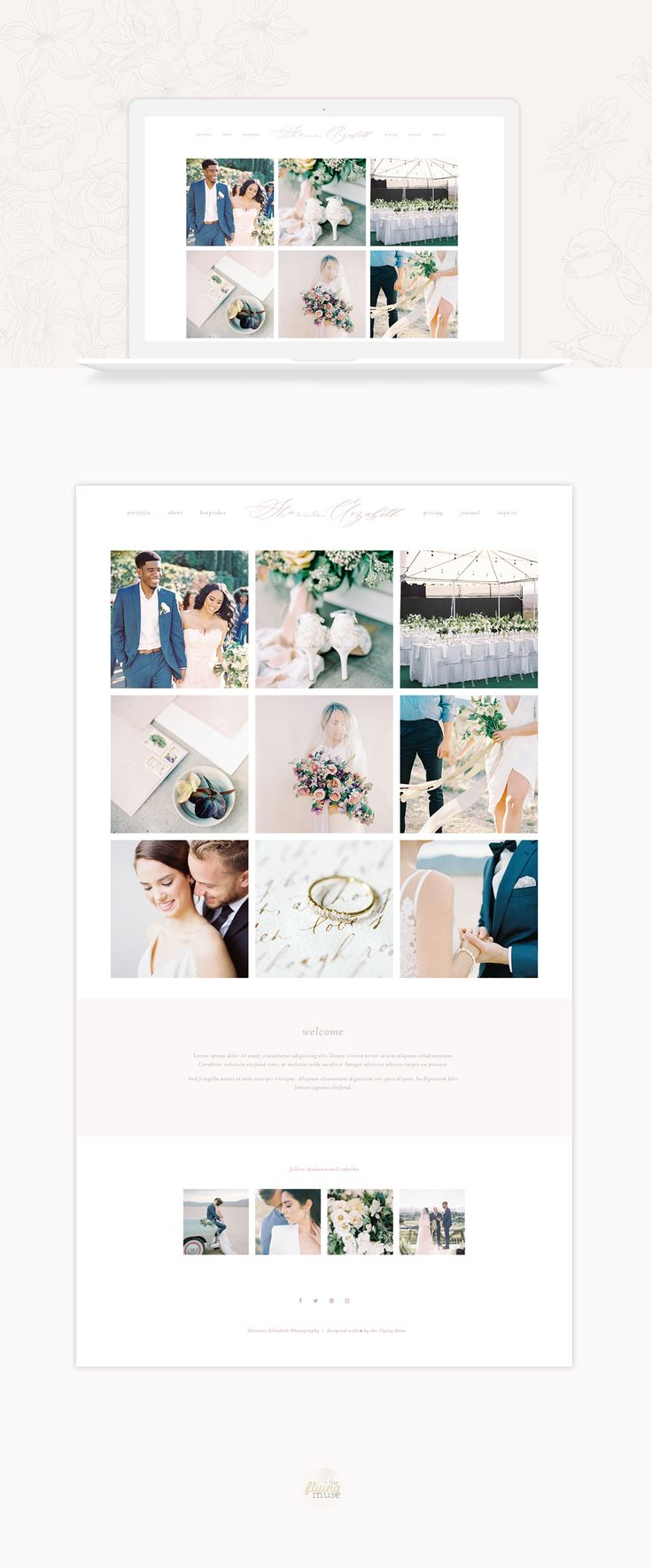 Shannon Elizabeth Photography Website Re-Design