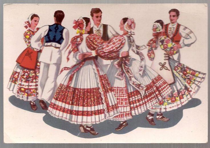 pocztówka CHORWACKI TANIEC LUDOWY Jugosławia