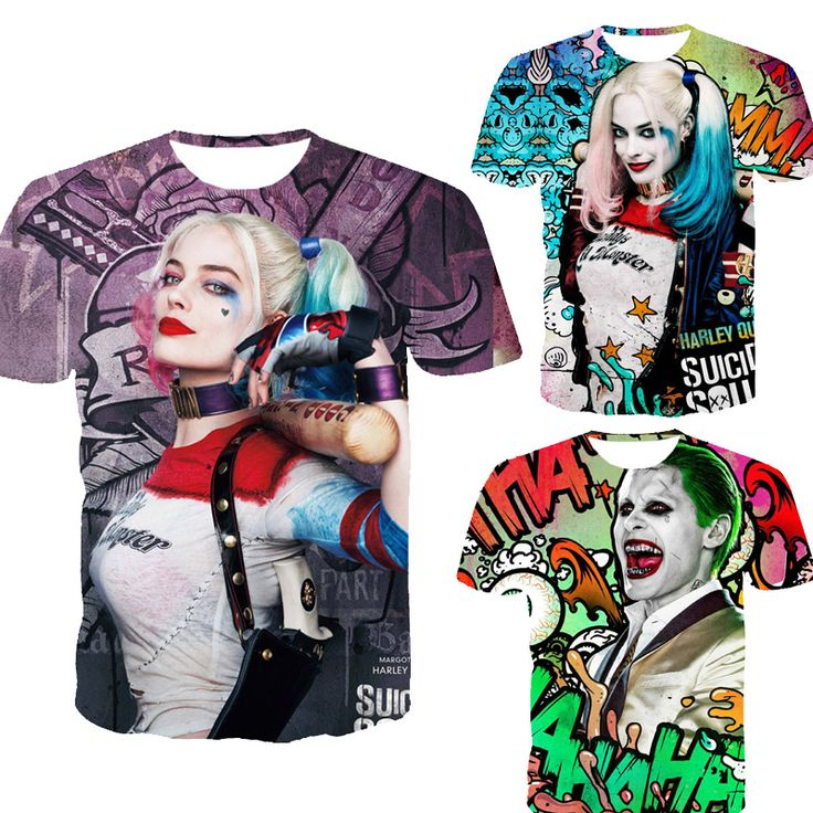 Suicide squad / Harley Quinn Mens 3D T Shirt //Price: $18.00 & FREE Shipping //     #hashtag2