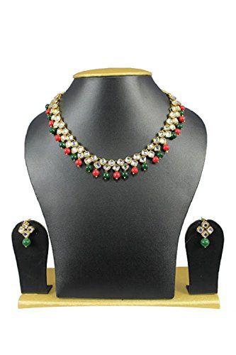 Bollywood Stylish Gold Plated Red Dark Green Pearls White... https://www.amazon.com/dp/B01J7M9L9M/ref=cm_sw_r_pi_dp_x_O7xNybD87SMBC
